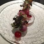 Élan.MIYAMOTO - 天然ブリ 赤い野菜 ビーツ トスカーナトマト