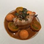 102045091 - 北海道のホタテ貝柱 青森のボタンエビ オレンジサツマイモ
