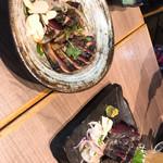 明神丸 - 鰹のたたき 塩味とポン酢(これやきセット