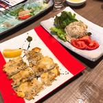 明神丸 - ポテトサラダとシラスのチーズカリカリ
