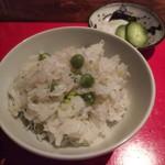 賛否両論 - ジャコと うすい豆の炊き込み御飯
