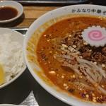 かみなり中華そば店 - 魚介担々麺+餃子セット♪