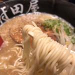 村田屋 - 麺は細麺。しゅるっとしたやつ。