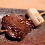 102062831 - 「和牛ハラミのねぎ間串と鰆の柚庵焼き」