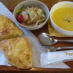 麦ばたけ - ポテトチーズサンド スープセット
