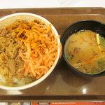 10207152 - 牛丼(並)&味噌汁