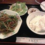 新宿上海料理 露露酒家 - 牛肉のオイスターソース炒め