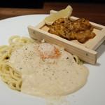 タベルナ トーキョー - 炙り板ウニのカルボナーラ