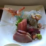 三崎「魚市場食堂」 - 日替わり刺身