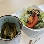 熱海 銀シャリ 澤 - 付き出し&サラダ!