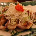 Yompachigyojou - 原始焼 宮崎日南鶏もも肉 680円