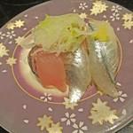 廻る富山湾 すし玉 - 料理写真:青魚三種盛