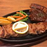 ビッグスペアリブ&赤肉ステーキ