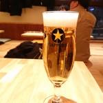 天ぷら酒場 KITSUNE - 生中(450円)