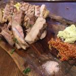 イタリアン大衆酒場HARUTA - 豚ロース焼き。このマスタード大好き!