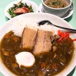 102109152 - 【2019年02月】豚角煮カレー@1,200円、提供時。
