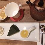 マールブランシュ カフェ - 生茶の菓セット。(紅茶入れる前)