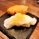 魚寿司 大塚のれん街 - イカソーメンカラスミ、飲めるサーモン