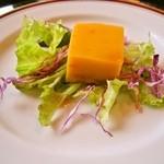 東茶寮 - 料理写真:人参豆腐のサラダ仕立て