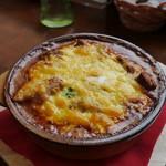 カフェレストラン亜詩麻 - スパイシーチキンの焼きカレー(大盛)