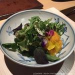 すし ふくづか - 六戸 大西ハーブ農園の無農薬ハーブ25種類が入ったサラダ