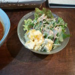 ガーデンカフェ兎遊 - 有精卵のふわとろハーブオムライス(サラダ)