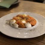 mine - 柿とチェリーモッツァレラのカプレーゼ