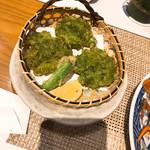おらんく家 - アオサの天ぷら