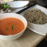 Soba Ristorante na-ru - 日替わりBエビとトマトスープそば¥1,100