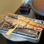 旬魚たつみ - 猛者海老(モサエビ)の鉄板焼