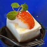 旬魚たつみ - デザート  豆乳のわらび餅