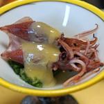 旬魚たつみ - 先付  ホタルイカの酢味噌和え