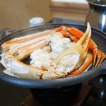 旬魚たつみ - 浜坂産 松葉蟹の鉄板焼
