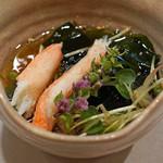 笹すし - 松葉蟹と若布の酢の物