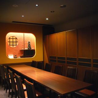 茶室をイメージした完全個室