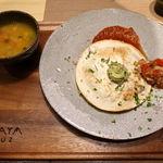 102150382 - チキンとチェダーチーズのケサディーヤ サルサメヒカーナ 1480円(税別)