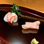 鮨 ふじわら - 真鯛と大カンパチのお刺身
