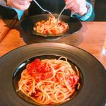 estY - にんにくトマトスパゲティ