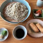 手打ちそば みやかわ - 料理写真:大ざるそば、いなり寿司