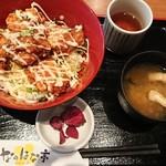 なのはな亭 - ランチ鳥唐照りマヨ丼¥550-