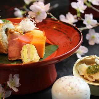 季節ならではの食材を各地より厳選。正統派な和食料理を提供。