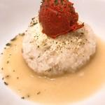 鶏白湯SOBAとよだれ鶏の店 虎舎 - リゾットライス用追い飯(トマト)