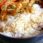 たけや - かき揚丼のお米