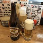 立呑み 山和屋 - 瓶ビール(中瓶) ラガー♪