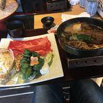 源氏総本店 - すき焼きは、少し食べた後の撮影。