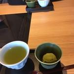 源氏総本店 - デザートの抹茶アイス。