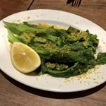 102178551 - チーマディラーパ(菜の花)の茹で上げとカラスミ