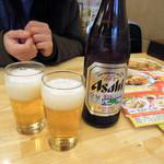 ぎょうざの満洲 - 中瓶ビール507円