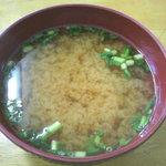 大衆食堂 泉 - 味噌汁