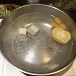 温炊き さんずい - 柚子しゃぶのなべ